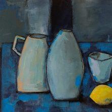 Blue Table with Lemon - T Kane