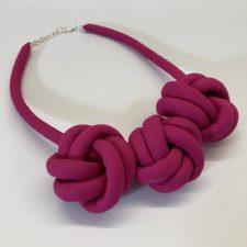 Fabric Necklace - Fuschia - Julia Maguire
