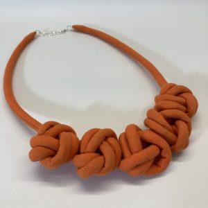 Fabric Necklace - Orange - Julia Maguire