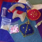 Photo of felted decorations